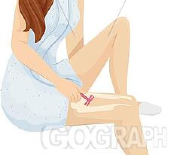 Teen Girl Shave Hair Legs Illustration