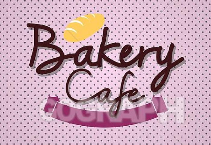Vector Art Typo Vector With Word Bakery Cafe Clipart Drawing