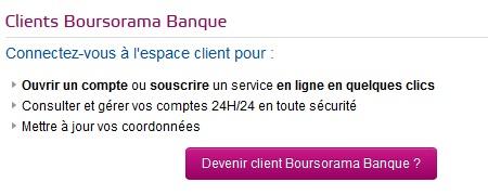 espace client boursorama banque