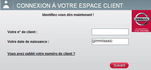identification espace Nissan Finance