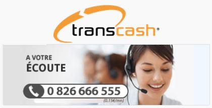 service client transcash contact