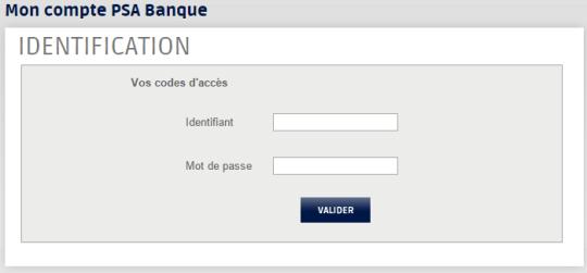 connexion à mon compte Psa banque