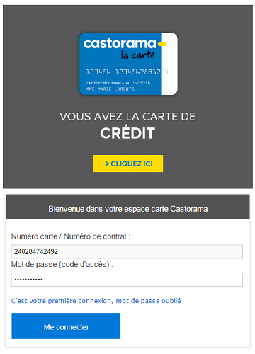 Carte Castorama Offre Bienvenue.Espace Client Carte Castorama Crealfi