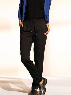 Le pantalon fluide taille élastiquée noir