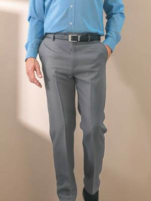 Pantalon polyester toucher laineux