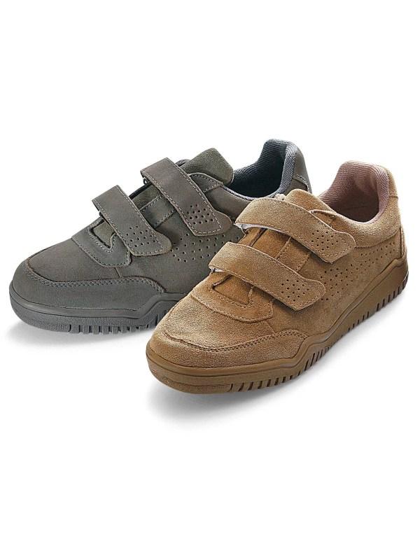 Chaussures de détente cuir velours