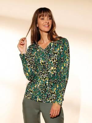 Le T-shirt tunique imprimé léopard