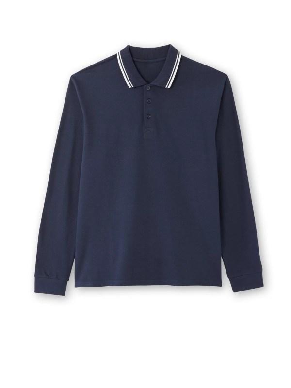 Le polo marine pur coton