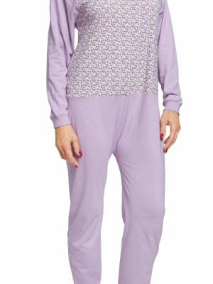 pyjama grenouillère SANDRA Facile à enfiler grâce à son grand zip au dos, il conserve la chaleur corporelle. Doux et cha- leureux, il est parfait pour des nuits sereines. Maille 100% coton