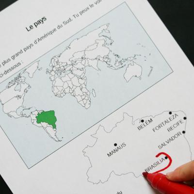 Exemple d'activité sur le Brésil pour maternelle