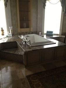 Granite around tub