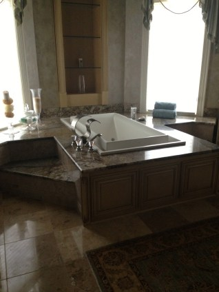 Granite around tub