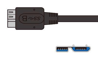 Micro USB3.0 Tipo-B