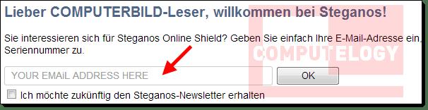Steganos Online Shield 365 Registration Form