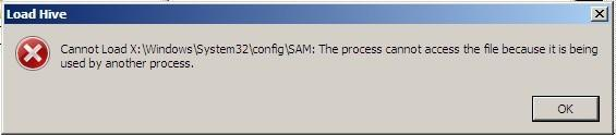The Process Cannot Access The File Because It Is Being Used By Another Process