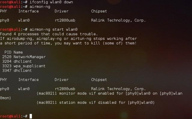 перехват пакетов кали линукс
