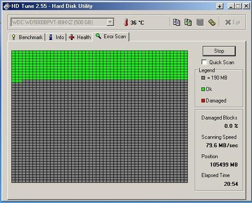 HD Tune - проверка диска