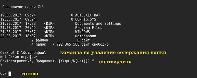 удалённое удаление файлов