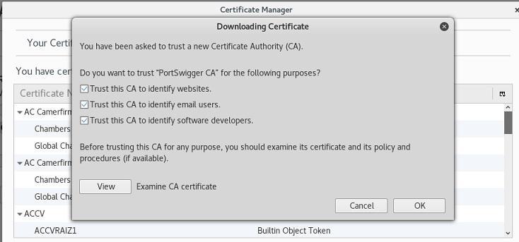 загрузка сертификата