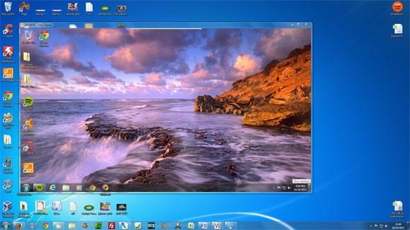 Remote desltop running on main desktop