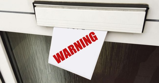 Got a warning letter through the post?