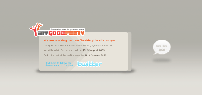 temp website for mygoodparty