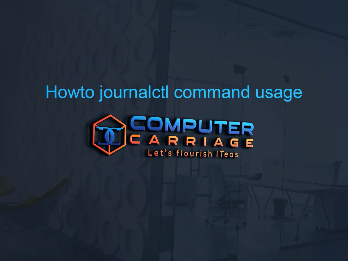howto use journalctl