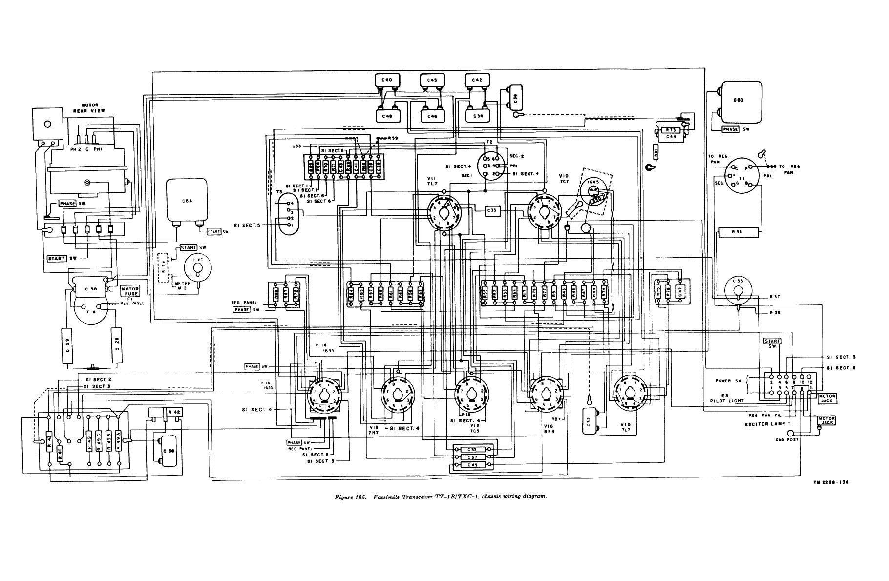 Figure 185 Facsimile Transceiver Tt 1b Txc 1 Chassis Wiring Diagram