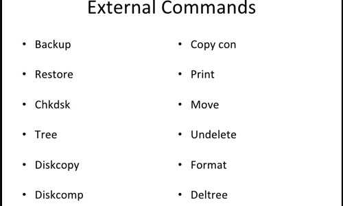 Commands of DOS | | Computer Hindi Notes