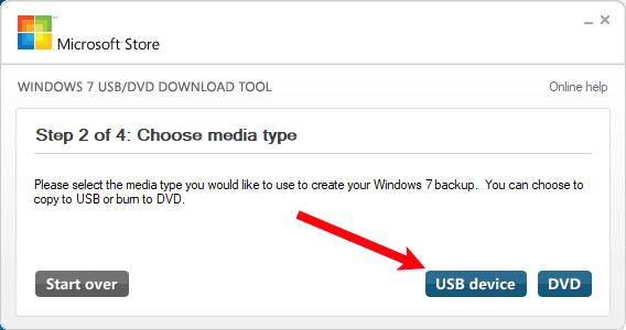 Sådan brænder du billedet af Windows 7 Brug USB / DVD Download Tool