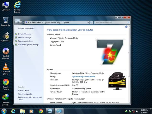 Windows7 Lite Ghost