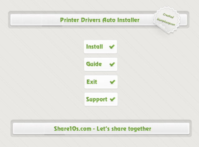Printer Drivers Auto Installer Share 10os Vs2012 By CMTEAMPK1