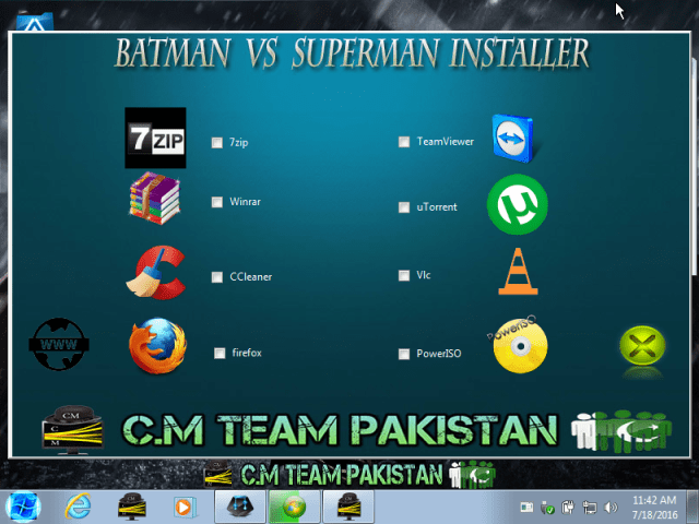 Windows 7 Batman Vs Superman Lite Version Installer Screen By Computer Media Team