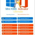 Mini KMS Activator Ultimate 2.1 Free Download [Latest!]