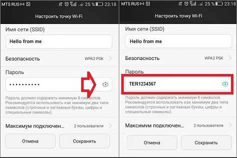 Regardez le mot de passe WiFi dans les propriétés d'accès Android