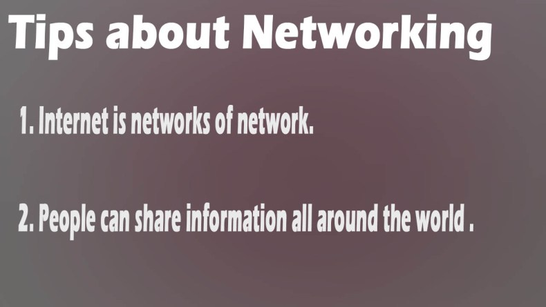 Ethical Hacking Tips about networking