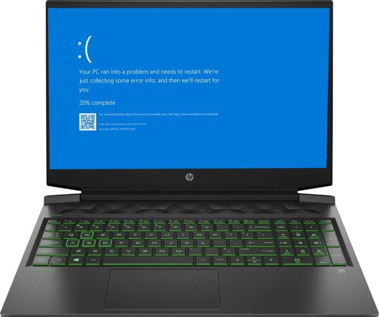 HP Black Screen Issue Repair Denton