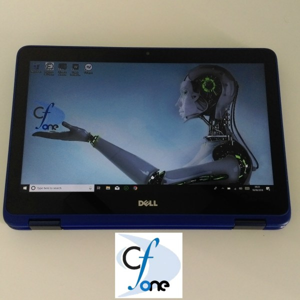 Refurbished DELL Inspiron 11 Intel Celeron N3060 2GB 32GB 11.6 Inch Windows 10 Touchscreen 2 in 1 Laptop in Blue