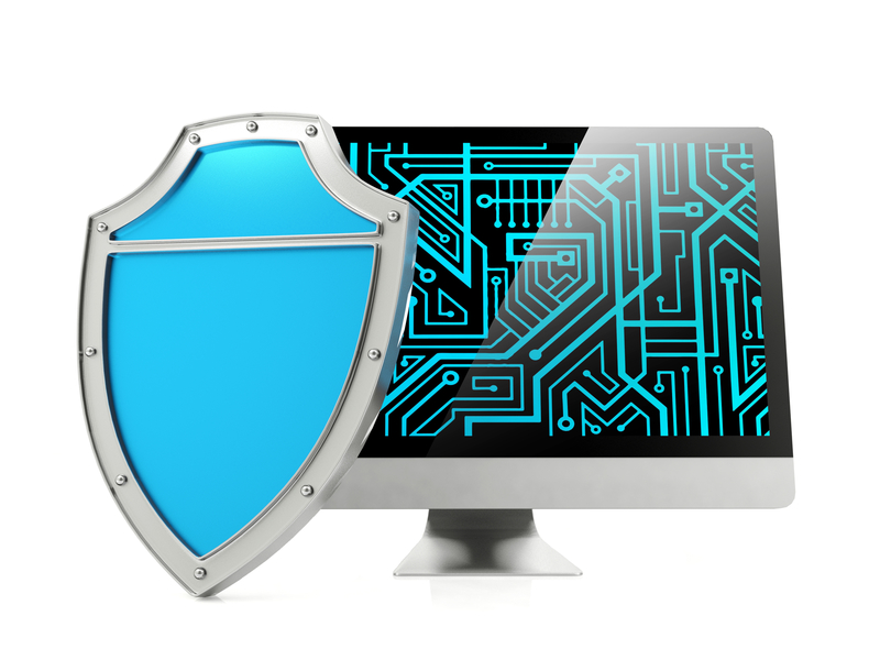 Image of shield and computer