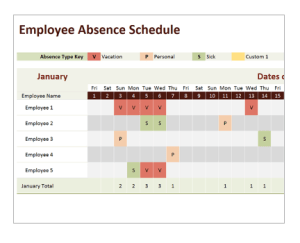 Create employee absence spreadsheet using Microsoft Excel online training courses career academy $25 per week