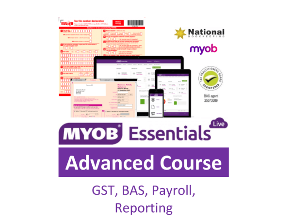 MYOB Essentials Advanced Training Courses, incl Payroll Administration Course - Industry Accredited, Employer Endorsed, FREE Career Academy - CTO