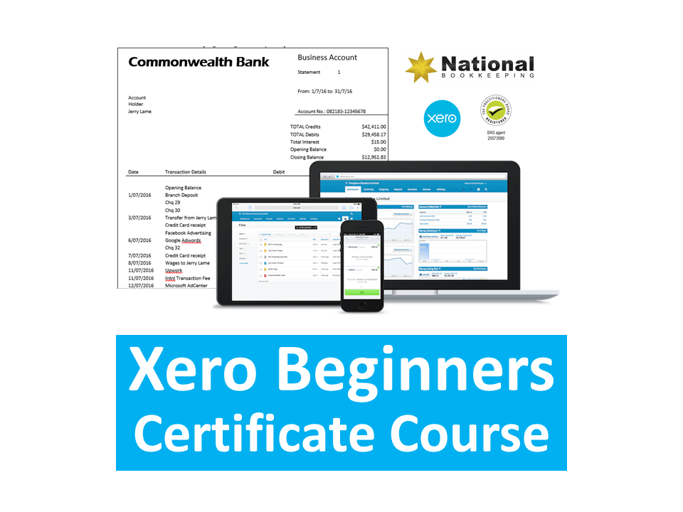 Xero Beginners Certificate Training Course
