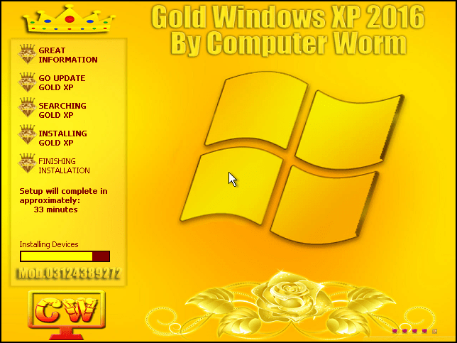 Gold XP 2016 3 Installation