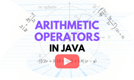 How to Use Arithmetic Operators in Java: Video Lecture 5
