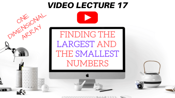 Finding the largest and the smallest numbers in an array in Java