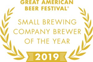 2019 Great American Beer Festival Small Brewing Company Brewer of the Year