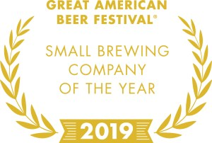2019 Great American Beer Festival Small Brewing Company of the Year