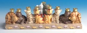 Happy Hanukkah! - a cat menorah