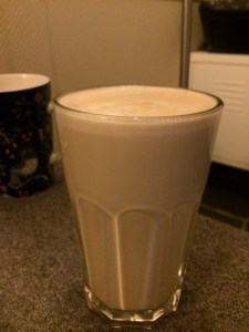 Makeshift vanilla latte magnificence