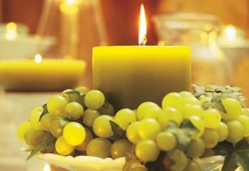velas e uvas